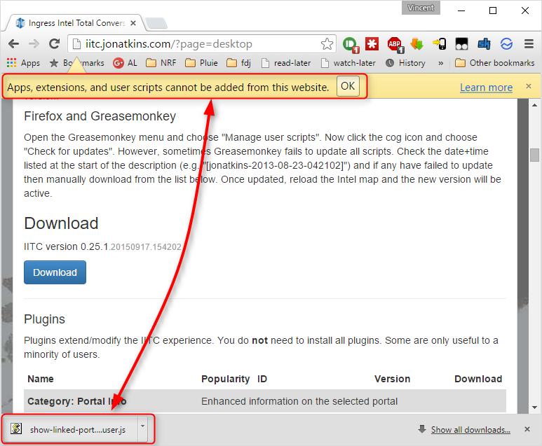 Tampermonkey downloaded user js file